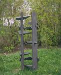 Özvegy koporsó, 1991, festett fa, vaspántok, 50x50x110 cm