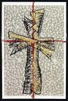 Crux II., 1988, szitanyomat, papír, 62,5x44 cm