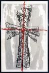 Crux III., 1988, szitanyomat, papír, 62,5x44 cm