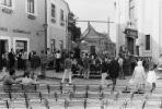 A Nalaja Happening kezdete a színpadon, Fő tér, Szentendre, 1970 (fotók Hegedűs György)