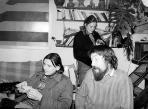 Lois Viktorral és Aknay Ágival, Szentendre, 1982-83 kl