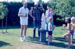 Szoboravatás, Twello, Hollandia, 1985 (balról Ritter Kálmán,  M. G., Ritterné Matyófalvi Judit)