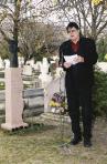 Emlékhelyének avatása, Szentendrei Köztemető, 2003 (Wehner Tibor)