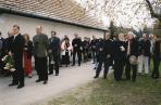 Emlékhelyének avatása, Szentendrei Köztemető, 2003